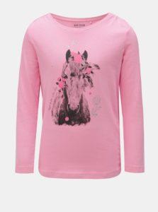 d7b0a878e879 Ružové dievčenské tričko s potlačou koňa Blue Seven