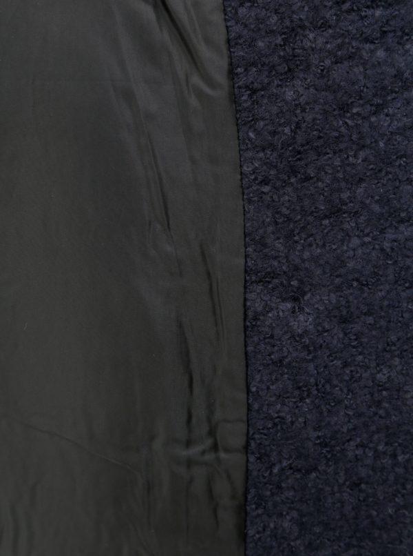 39686c70a Modrý vlnený kabát s opaskom Noisy May Zoe   Moda.sk