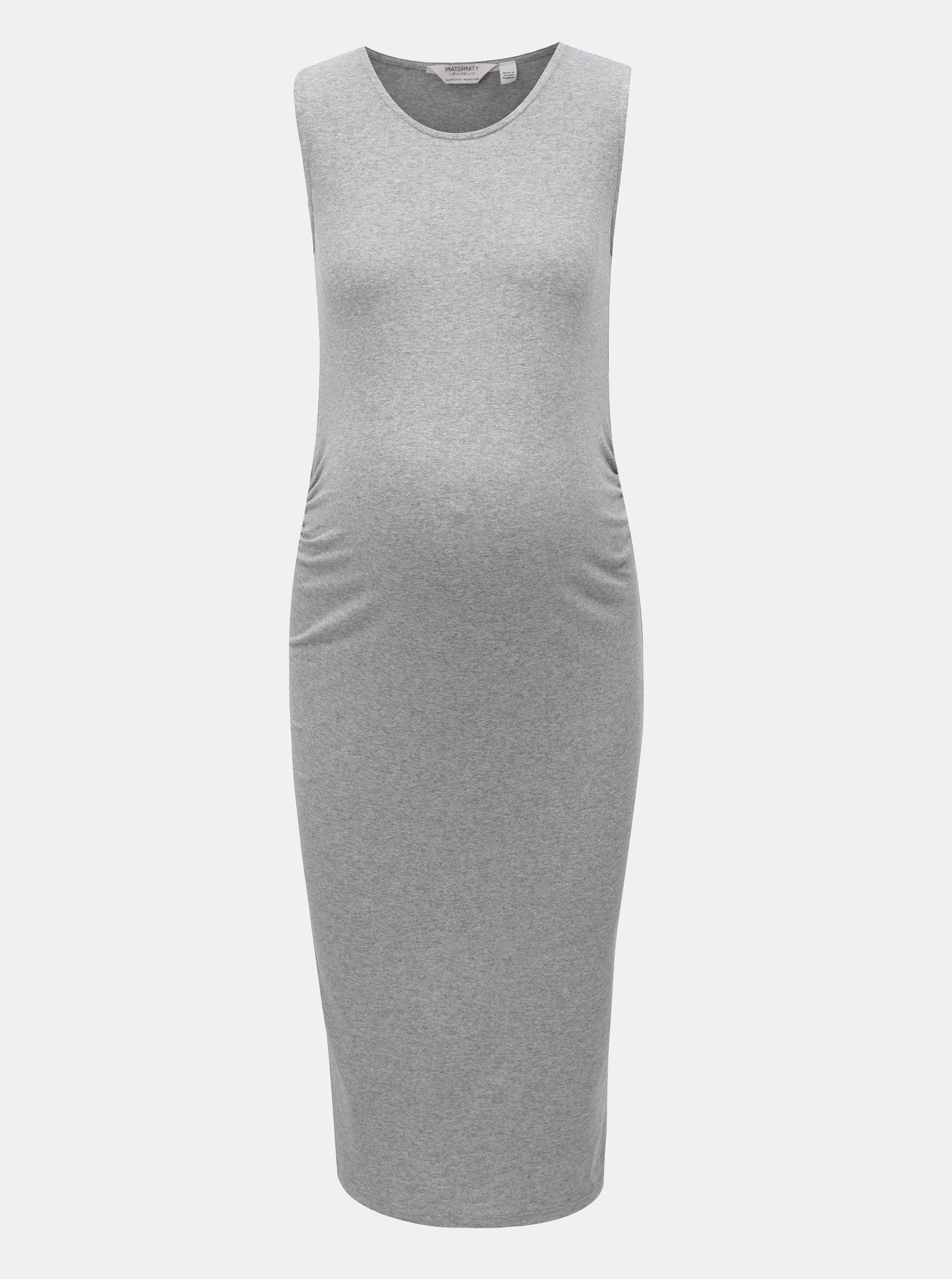 24191b612d1c Sivé tehotenské melírované šaty Dorothy Perkins Maternity