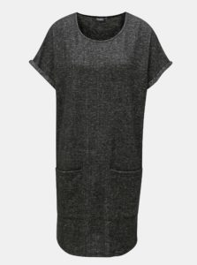 Tmavosivé melírované svetrové šaty Broadway Geralyn