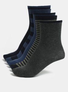 Sada piatich párov chlapčenských ponožiek v modrej, zelenej a sivej farbe Name it Melange
