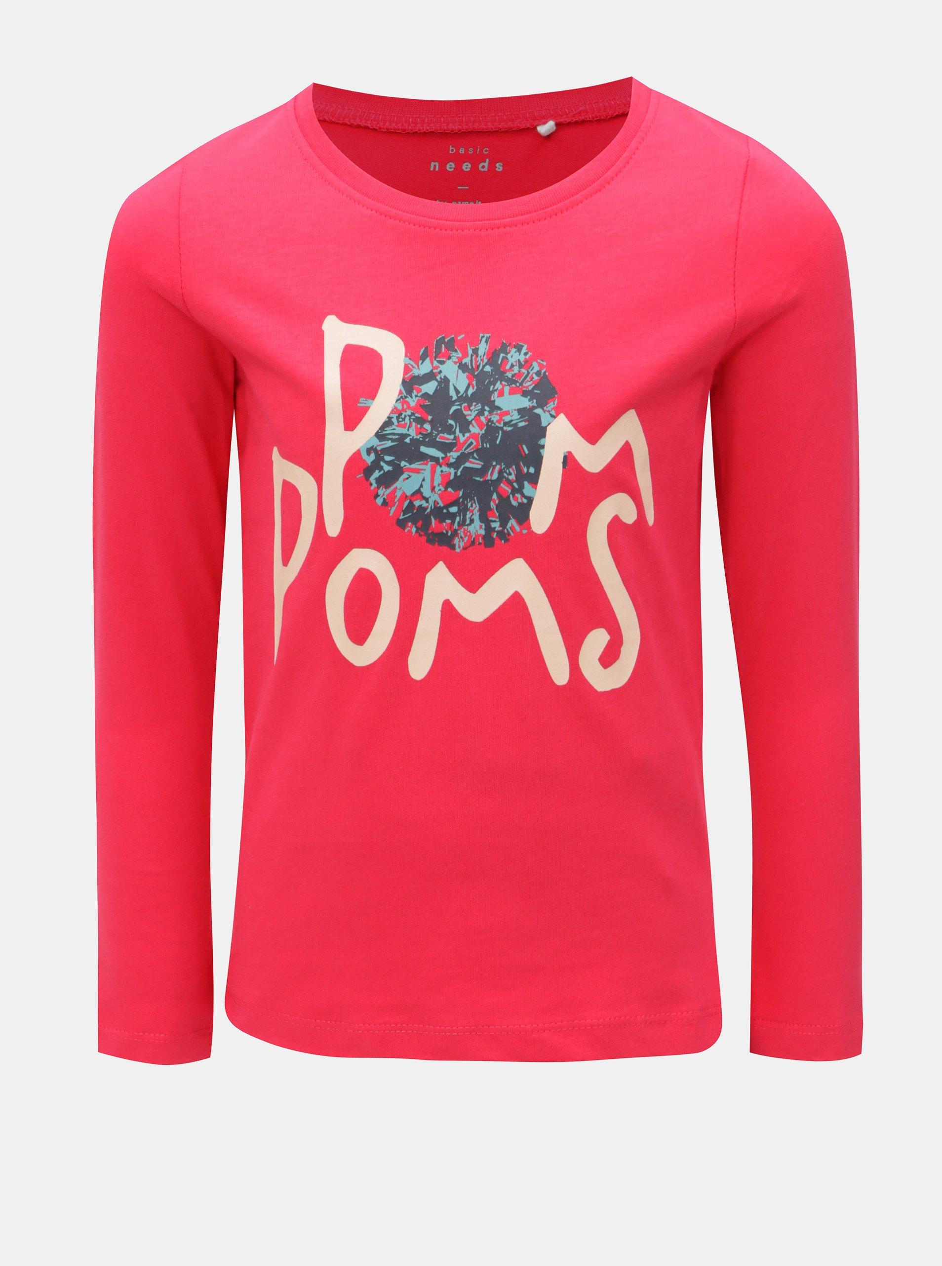 054db7bff8d6 Červené dievčenské tričko s dlhým rukávom Name it Veen