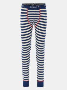 Bielo-modré chlapčenské podvliekacie nohavice Name it