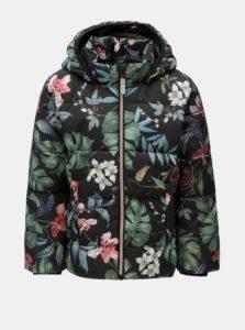 Čierna dievčenská zimná prešívaná bunda s kapucňou Name it May