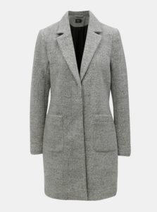 Sivý tenký kabát s prímesou vlny ONLY