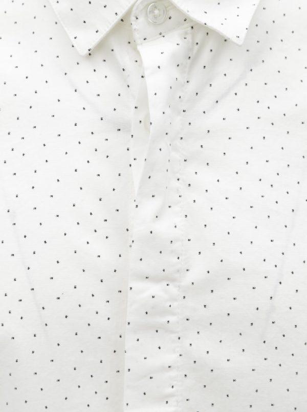 Biela vzorovaná slim fit košeľa ONLY & SONS