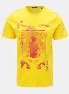 Žlté tričko s potlačou ONLY & SONS