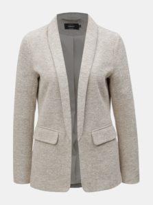 Béžové melírované sako s vreckami ONLY