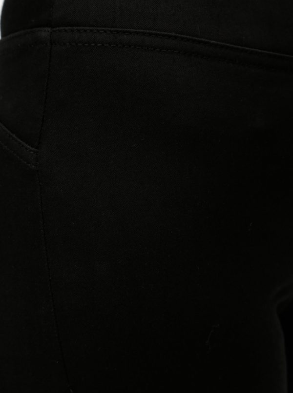 Čierne jeggings s vysokým pásom Noisy May