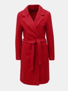 Červený kabát na zaväzovanie ONLY