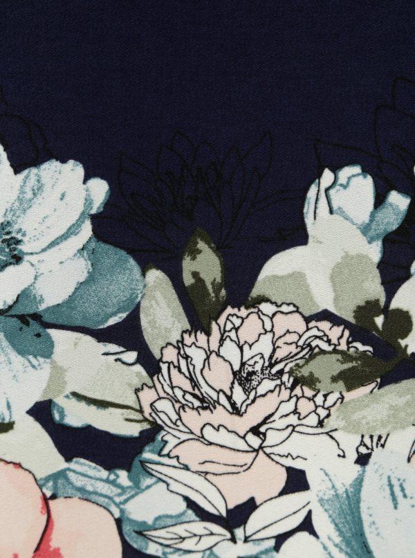 Tmavomodré vzorované minišaty Dorothy Perkins