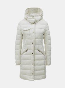 Krémový prešívaný kabát so vzorom Desigual Inga