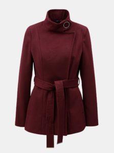 Vínový krátky kabát Dorothy Perkins