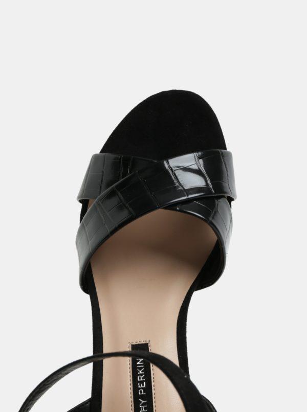 0fc365751801 Čierne sandále na vysokom podpätku Dorothy Perkins Serena