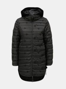 Čierny prešívaný zimný kabát so šnurovaním Desigual Lucille