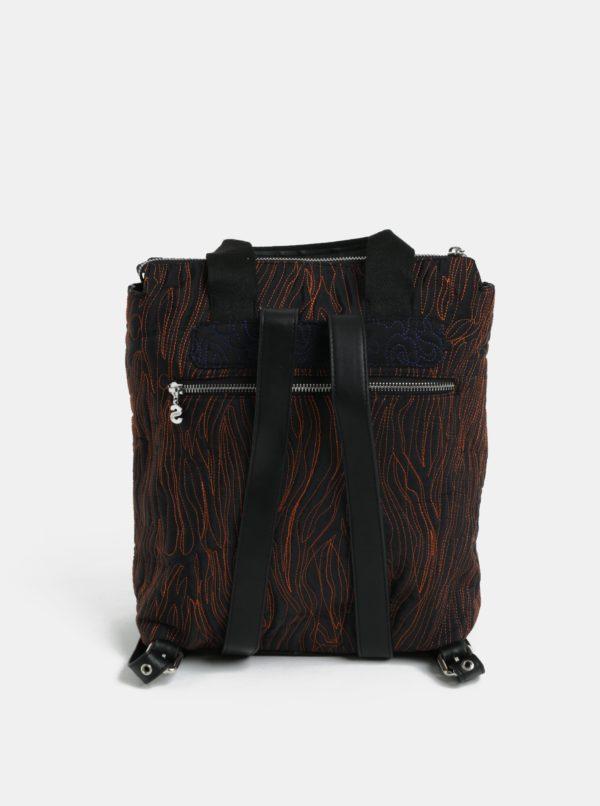 c3a55775e5 Čierny dámsky prešívaný batoh Desigual Maldivas