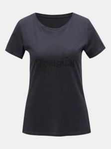 Čierne tričko s potlačou Desigual