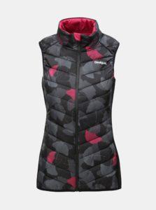 Čierna vzorovaná prešívaná vesta Desigual Ginko Dance