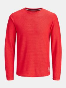 Červený tenký sveter Jack & Jones Laundry