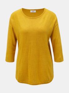 Horčicový tenký sveter s 3/4 rukávom Jacqueline de Yong Hush