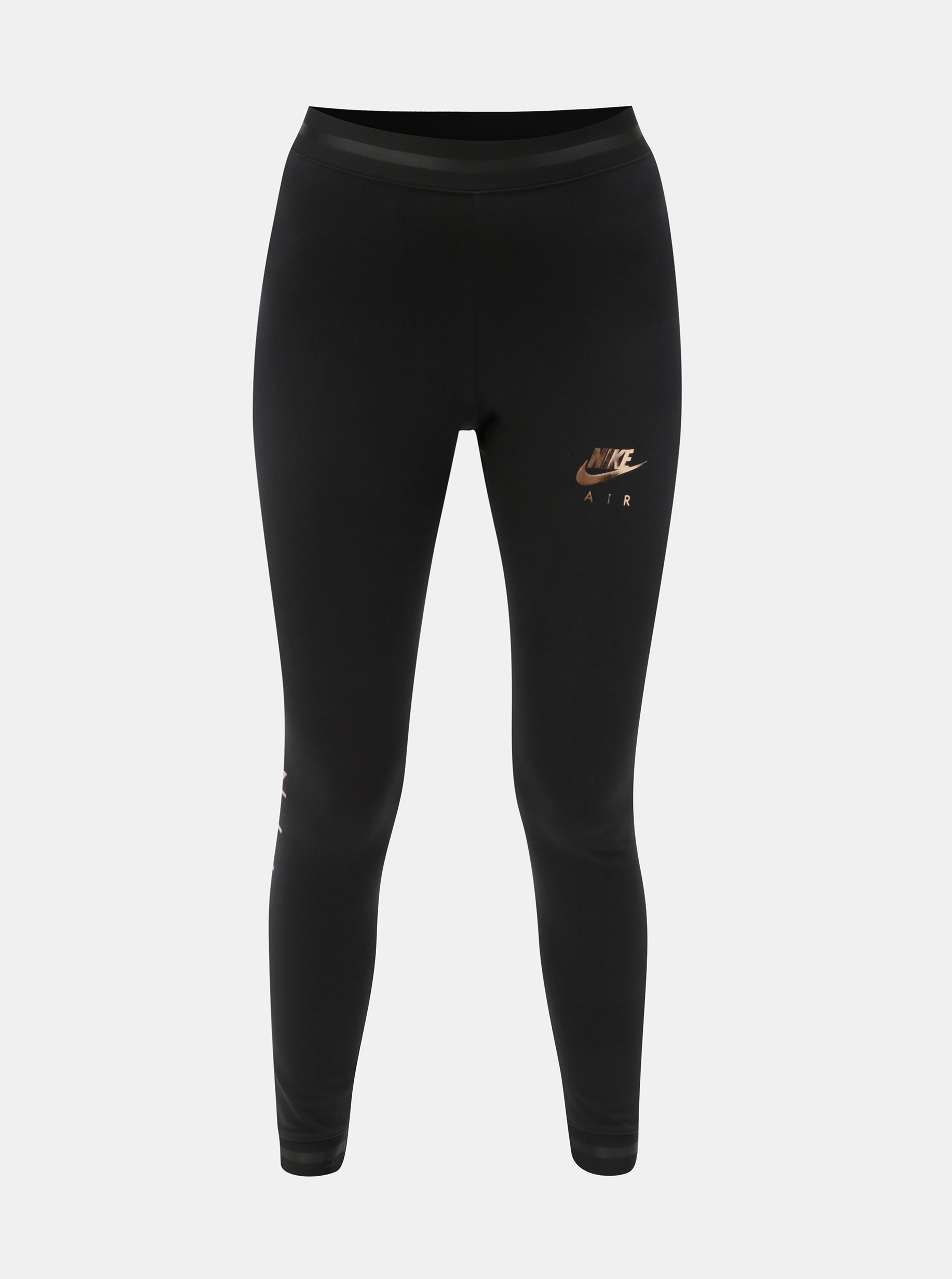 Čierne dámske legíny s potlačou Nike Air  daadff5efdb