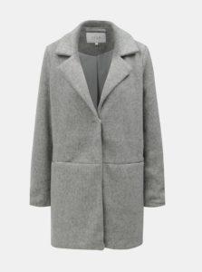 Sivý melírovaný tenký kabát s vreckami VILA Dory