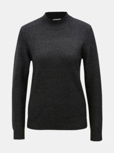 Tmavosivý sveter so stojáčikom VILA Ril