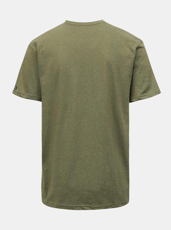 Kaki pánske melírované tričko NUGGET