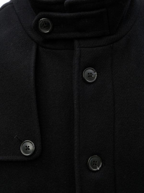 Čierny vlnený kabát Selected Homme Cevent