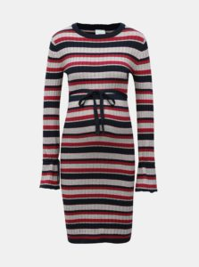 8f6702d4f Ružovo-sivé tehotenské svetrové šaty s opaskom Mama.licious Blossom