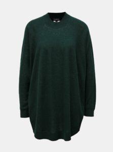 Zelený voľný vlnený sveter Selected Femme