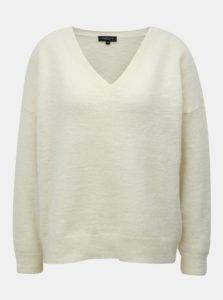 Krémový sveter s prímesou vlny Selected Femme Flivana