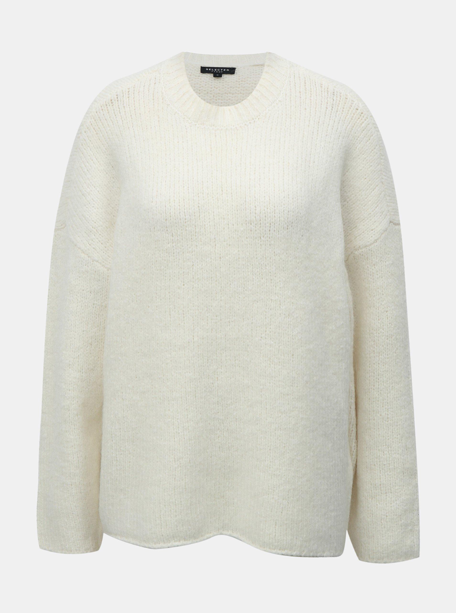 5630a33702a5 Krémový sveter s prímesou vlny Selected Femme Fregina
