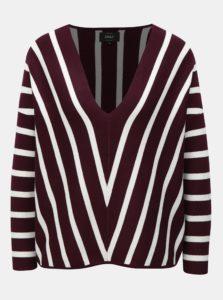 Fialový pruhovaný sveter ONLY Aya