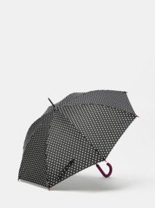 Čierny bodkovaný vystreľovací dáždnik Rainy Seasons