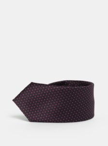 Modro-vínová vzorovaná slim kravata Selected Homme Vilhelm