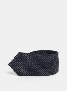Sivo-modrá vzorovaná slim kravata Selected Homme Vilhelm