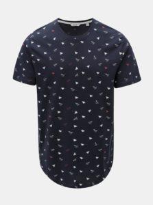 Tmavomodré tričko s lastovičkami ONLY & SONS Gene