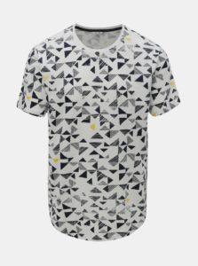 Biele tričko s geometrickou potlačou ONLY & SONS Gene