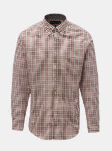 Krémovo-oranžová vzorovaná casual fit košeľa Fynch-Hatton
