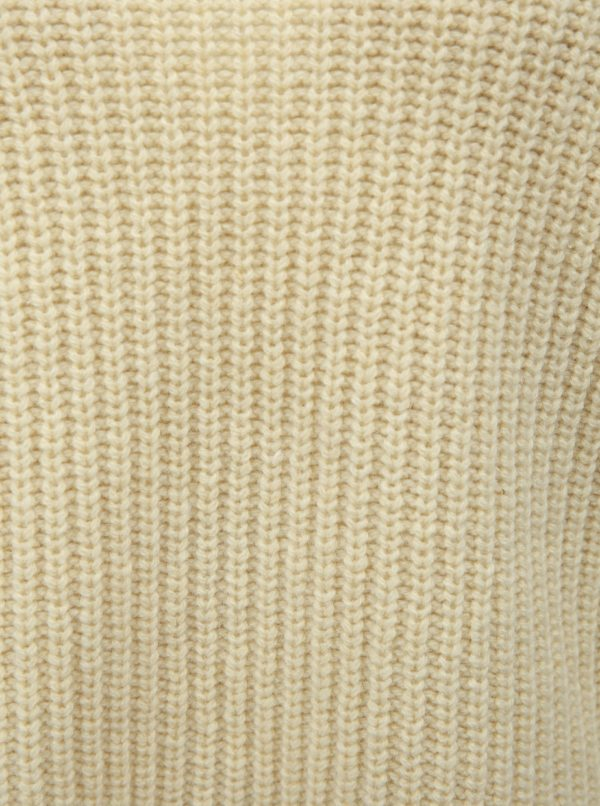 Krémový dámsky oversize vlnený sveter Kings of Indigo