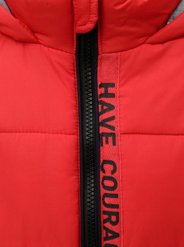 Červená chlapčenská zimná prešívaná bunda Name it Maxim