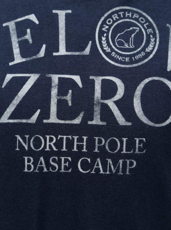 Tmavomodré chlapčenské tričko s potlačou North Pole Kids