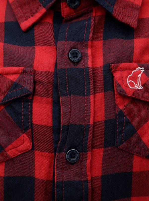 Červená chlapčenská kockovaná košeľa North Pole Kids