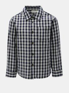 Bielo–modrá chlapčenská kockovaná košeľa Name it Villan