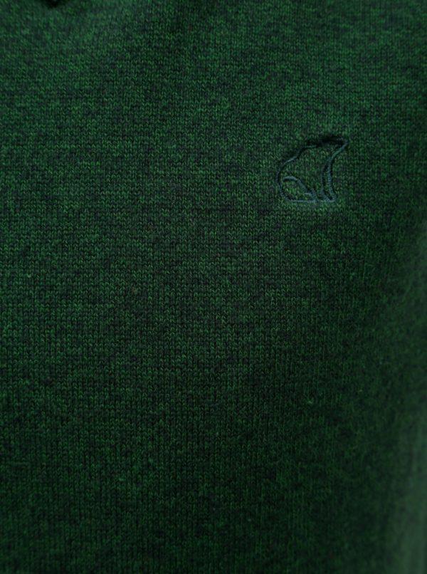 Tmavozelená chlapčenská melírovaná svetrová vesta North Pole Kods