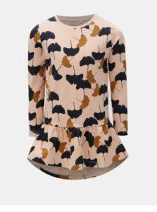 Marhuľové mikinové šaty s potlačou Name it Veta