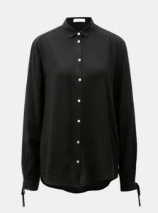 Čierna košeľa so zaväzovaním na rukávoch Yerse