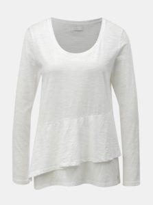 Biele voľné tričko s volánom Yerse