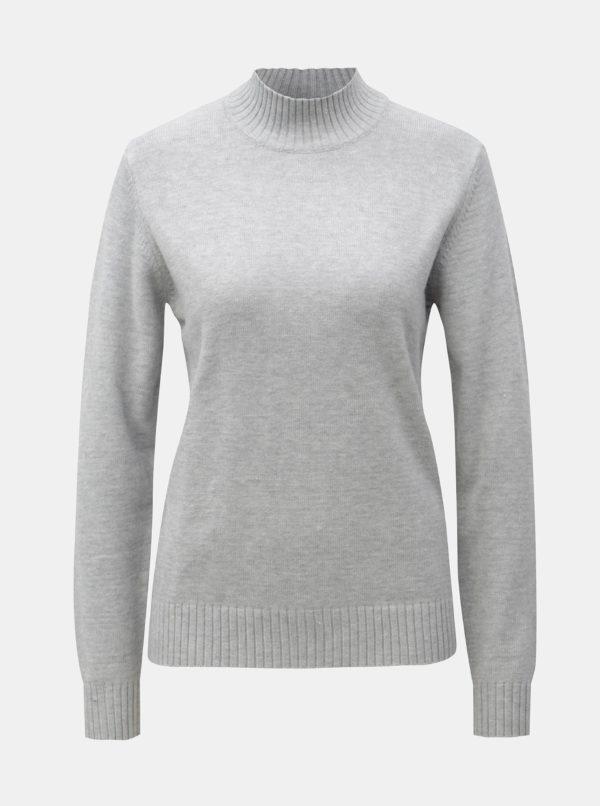 Sivý melírovaný sveter VILA Viril